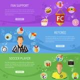 Soccer horizontal Banners Stock Image