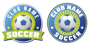 Soccer icon. S with stars and ball royalty free illustration