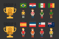 Soccer icon group A Royalty Free Stock Photography