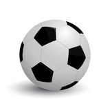 Soccer icon. Illustration of a soccer ball against white background Royalty Free Stock Photos
