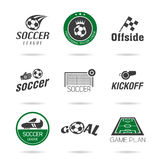 Soccer icon set - 3 Royalty Free Stock Images