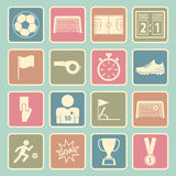 Soccer icon Royalty Free Stock Photos