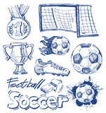 Soccer icon set Royalty Free Stock Images