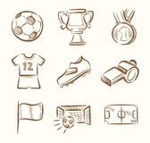 Soccer icon set Stock Photo