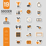 Soccer Icon Sticker Set Royalty Free Stock Image