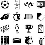Soccer icons Royalty Free Stock Photography
