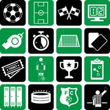 Soccer icons. This is a collection of icons related with soccer Royalty Free Stock Photography
