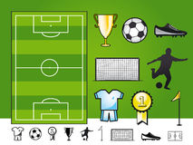 Soccer icons. A collection of soccer icons / european appeal Stock Photos