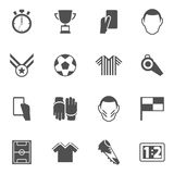 Soccer icons black Royalty Free Stock Image