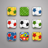 Soccer icons collection Stock Photos
