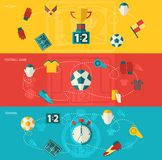 Soccer icons flat Stock Images