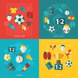 Soccer icons flat Stock Image