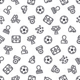 Soccer Icons Seamless Background Stock Photos