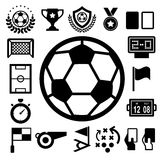 Soccer Icons set. Royalty Free Stock Image