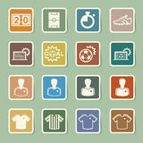 Soccer Icons set. Stock Photography