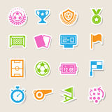 Soccer Icons set. Royalty Free Stock Photo