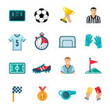 Soccer Icons Set Stock Image