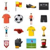 Soccer Icons Set Football, Cartoon Style Stock Photo