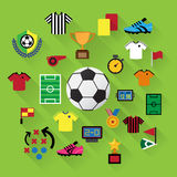 Soccer Icons set. Royalty Free Stock Photos