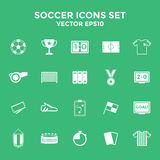 Soccer Icons set. Illustration eps10 Royalty Free Stock Photos