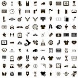 100 Soccer Icons set. In simple style isolated on white background vector illustration
