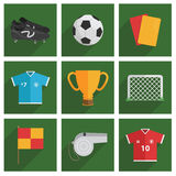 Soccer icons Royalty Free Stock Image