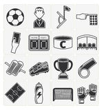 Soccer icons set Royalty Free Stock Photography
