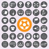 Soccer Icons set.vector/eps10. Royalty Free Stock Image