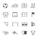 Soccer Icons set. Royalty Free Stock Images