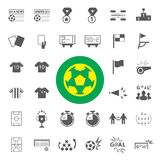 Soccer Icons set Royalty Free Stock Images