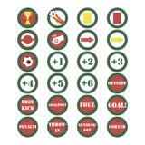 Soccer icons set vector Royalty Free Stock Images