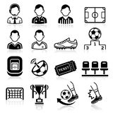 Soccer icons. Stock Photos