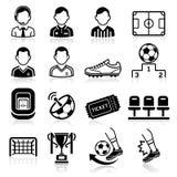 Soccer icons. Stock Photos