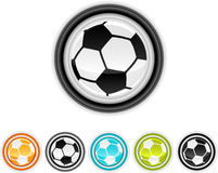 Soccer icons Stock Photo