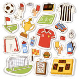 Soccer icons vector illustration. Stock Photo