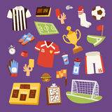Soccer icons vector illustration. Stock Images