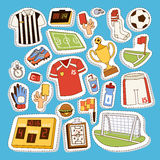 Soccer icons vector illustration. Royalty Free Stock Images