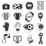 Soccer icons. Soccer icons on white background Royalty Free Stock Image