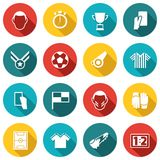 Soccer Icons White Royalty Free Stock Images