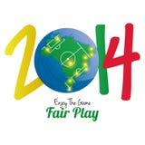 Soccer Illustration For Brazil 2014 Editable. Vector Soccer Illustration For Brazil 2014 Editable Royalty Free Stock Photos