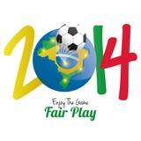 Soccer Illustration For Brazil 2014 Editable Stock Image