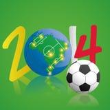 Soccer Illustration For Brazil 2014 Editable. Vector Soccer Illustration For Brazil 2014 Editable Royalty Free Stock Images