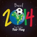Soccer Illustration For Brazil 2014 Editable. Vector Soccer Illustration For Brazil 2014 Editable Stock Images