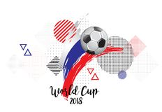 WORLD CUP RUSSLAND 2018. SOCCER NATION FLAG. FOOTBALL TEAM TEMPLATE ILLUSTRATION. PAINTED ART AND DOTS GRUNGE BACKGROUND. SOCCER ILLUSTRATION. FOOTBALL TEMPLATE royalty free illustration
