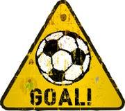 Soccer illustration,. Goal, sign, vector eps 10 Royalty Free Stock Images