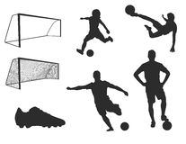 Soccer Illustrations Royalty Free Stock Photography