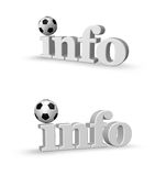 Soccer info Royalty Free Stock Photo