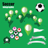 Soccer infographic Royalty Free Stock Images