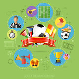 Soccer Infographics Royalty Free Stock Photo