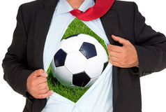 Soccer inside Royalty Free Stock Images